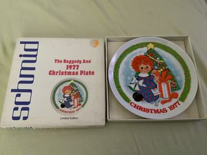 "THE SCHMID COLLECTIONS ""THE RAGGEDY ANN & ANDY PLATE IN ORIGINAL BOX #4 for Sale in Henderson, NV"