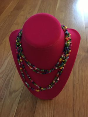 Handmade, long colorful glass beads necklace (holidays gifts) for Sale in Arlington, MA