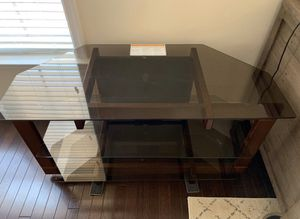 TV Stand - Glass and Wood, 2 shelves for Sale in Alexandria, VA