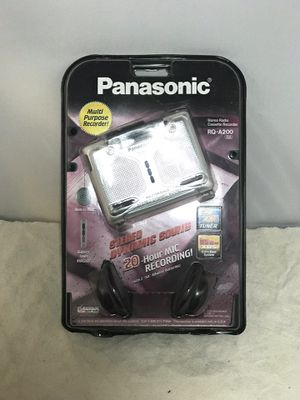 Panasonic RQ-A200 Cassette Player AM/FM Stereo Radio Multi Purpose Recorder New for Sale in Victorville, CA
