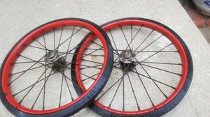 Vintage 12in solid tires and rims for Sale in Santa Ana, CA