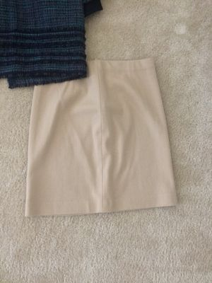 Size 4 Adriana Papell blue and green tweed suit and size 4 Ann Taylor camel pencil skirt. for Sale in Herndon, VA
