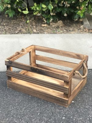 Wood and Wire Storage Box, Home Decor for Sale in San Dimas, CA