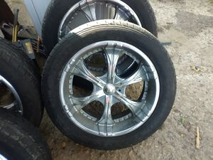 22in 6 lug universal rimsnamdntirea for Sale in Wichita, KS