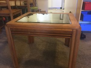Antique real wood glass table for Sale in Fremont, CA