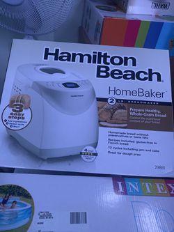 NEW Hamilton Beach 2 lb Digital Bread Maker Model #29881 for Sale in San Jose,  CA