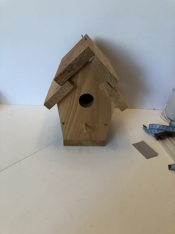 Widen bird house , unfinished wood