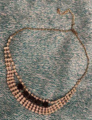 Black and Gold Shiny BEJEWLED Necklace for Sale in Ithaca, NY