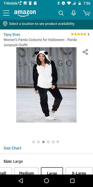 Panda Large Women's Panda Onesie Costume for Halloween - Panda JumpsuitOutfit MSRP $59.95 for Sale in Canoga Park, CA
