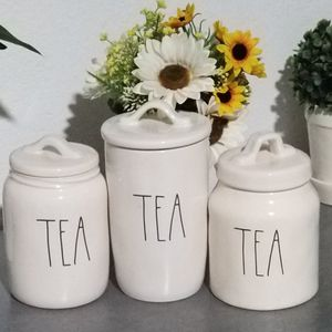 Rae Dunn TEA canisters / farmhouse decor kitchen home storage for Sale in Compton, CA