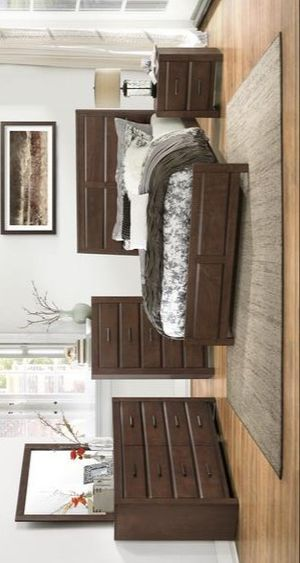 Pell White/Espresso Panel Bookcase Bedroom Set for Sale in Pflugerville, TX