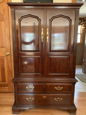 Genuine wooden Wardrobe & Dresser w mirror for Sale in Franklin, MA