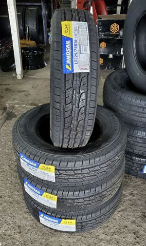 225/75/16 new all terrain tires for $560 with balance and installation we also finance {contact info removed} Dorian 7637 airline dr houston TX 77037 for Sale in Houston, TX