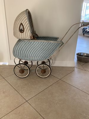 Antique Victorian wicker baby farmhouse cottage baby doll carriage for Sale in San Juan Capistrano, CA
