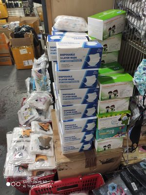 Wholesale Lot of 1000 boxes Face Masks / Minimum order: 50 boxes / 50pcs in Brand New box for Sale in Brooklyn, NY