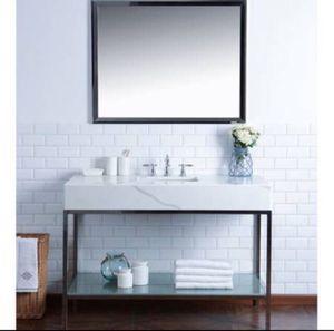 "48"" Modern Style Single Sink Bathroom Vanity CALACATTA QUARTZ for Sale in Huntington Beach, CA"