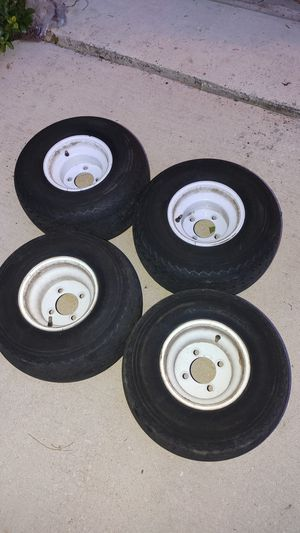 4 golf cart rims and tires for Sale in San Antonio, TX
