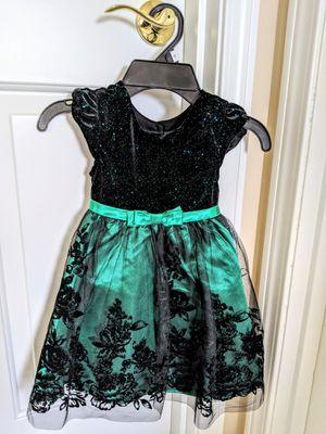 Jona Michelle Toddler Dress - Black/Green - Size 2T for Sale in Auburn, WA