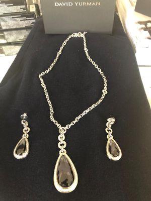 David Yurman Diamonds Purple Amatista Neckless & Earrings for Sale in Miami, FL