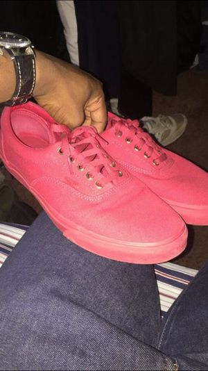 Low top vans shoes size 11 all red for Sale in Herndon, VA