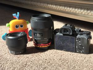 Sony Alpha a7S II Mirrorless Digital Camera + 2 x Lens + FluidHead + Tripod for Sale in Levittown, NY