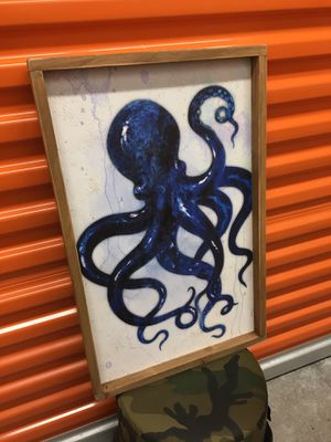"""'Curious Octopus' Wood Wall Nautical Decor (25""""H x 16""""H)(Brand New) for Sale in Coconut Creek, FL"""