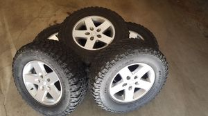 Jeep Wrangler wheels and tires - Set of 5 for Sale in Everett, WA