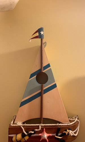 Decorative Wooden Sailboat for Sale in Salem, MA