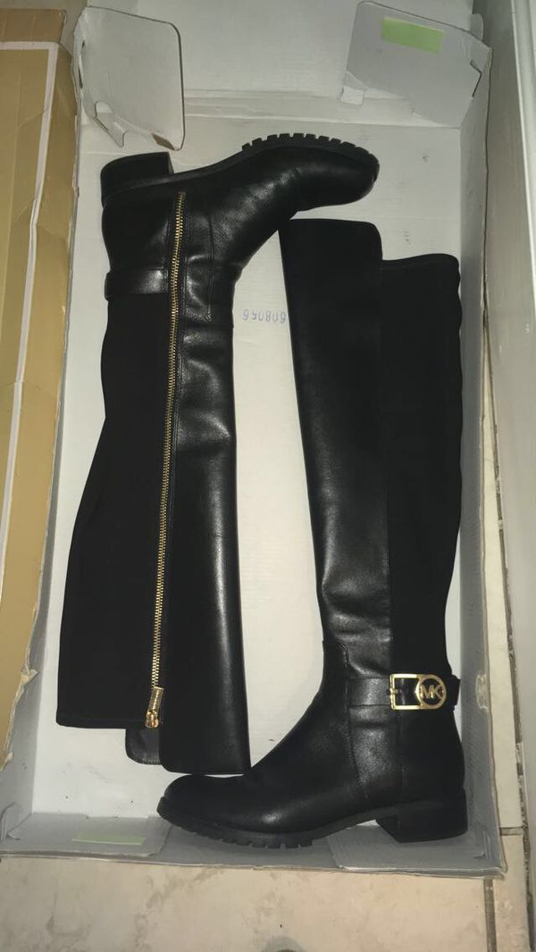 Michael Kors Bryce Flat Leather Boots