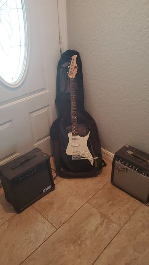 Strat style guitar and 2 amps for Sale in Largo, FL