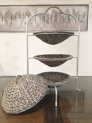 3 Tier Basket Serving Stand for Sale in Placentia, CA