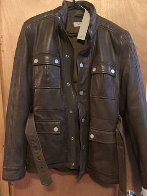 Brand new super warm real leather Calvin Klein winter jacket for Sale in New York, NY