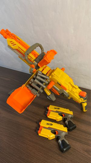 Nerf Vulcan gun and 2 small handguns for Sale in Westminster, CO