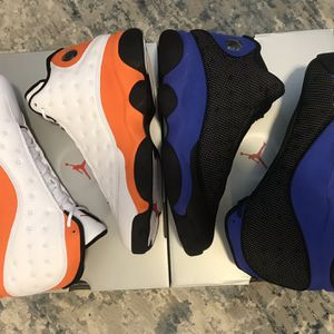 Nike Air Jordan 13 — Size 10.5 Bundle — Starfish and Hyper Royal for Sale in Falls Church, VA
