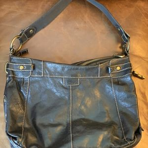 Large Black Leather Fossil Purse for Sale in Seattle, WA