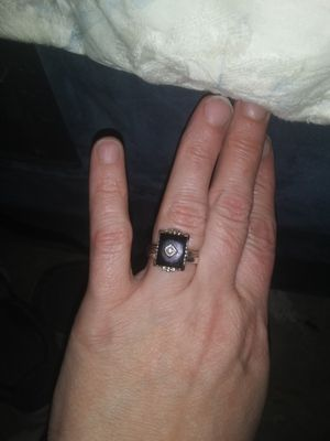 Black onyx/diamond ring for Sale in Norman, OK