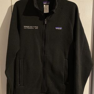 Patagonia Polyester Front Pocket Fleece Zip 2015 IMAX Promo Sweater Men Size M. for Sale in Fillmore, CA