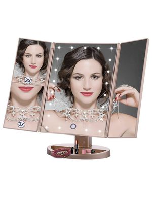 Lighted Makeup Mirror Tri Fold Vanity Cosmetic Mirrors with 21 led Lights for Sale in Cary, NC