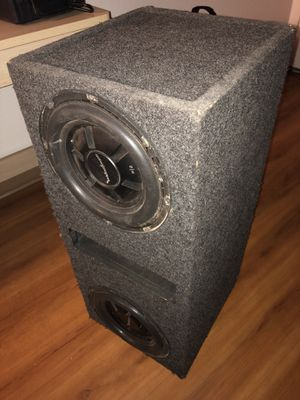 Rockford Fosgate 210 inch competition subwoofers in case with power amp for Sale in Gilbert, AZ