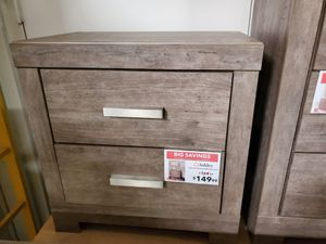 Claire Two Drawer Nightstand, Gray, SKU # B070-92 for Sale in Santa Fe Springs, CA