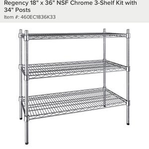 "New 18"" x 36"" NF Chrome Shelf for Sale in Lowell, MA"