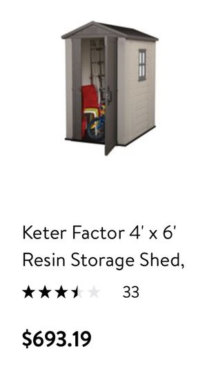 New still in box Outdoor Storage Shed $400 paid $693.19 plus tax for Sale in Pompano Beach, FL