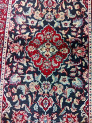 Hand woven Persian designed 5x3 blue and white and red colors. for Sale in Springfield, VA