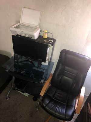 Dell xps i7 desktop , canon printer/scanner, acer monitor, computer desk, 2 speakers , and chair... for Sale in San Diego, CA