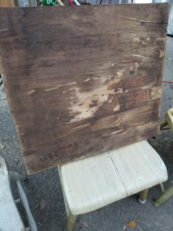 Weathered vintage board about 15 x 15