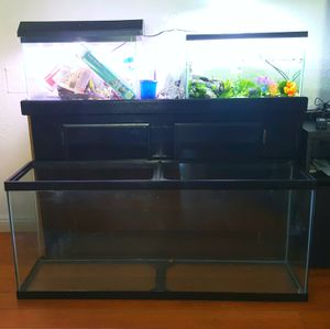55 Gallon + stand, 2x 10 gallon, LED & Florescent Tank Lights - $150 for Sale in Los Angeles, CA