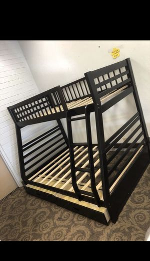 Bunk bed twin over full with drawers for Sale in Glendale, AZ