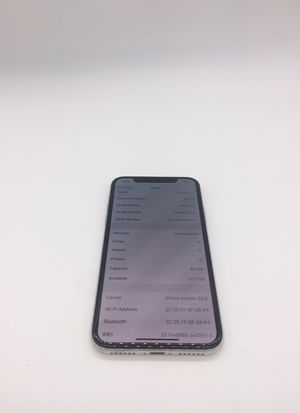 IPHONE X 64GB (AT&T) Silver for Sale in Boca Raton, FL