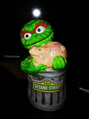 GORHAM VINTAGE OSCAR THE GROUCH SESAME STREET FIGURE 1978 Piggy Bank for Sale in North Las Vegas, NV