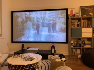 Projector screen (projector not included) for Sale in Cliffside Park, NJ